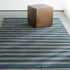Stripe Indoor Outdoor Rug Sachi Teal Stripe Indoor Outdoor 4 X6 Rug In Outdoor Rugs