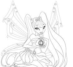 club coloring pages enchantix bloom