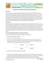 Food Chains Worksheet Student Worksheet Food Chains And Webs Creating Chains And