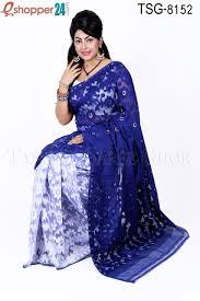 jamdani sharee tangail moslin silk jamdani saree tsg 8152 online shopping in