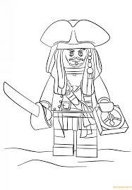 lego pirate captain jack sparrow coloring page free coloring