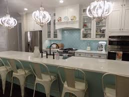 Kitchen Backsplash Installation by Rocky Point Tile Seafoam Arabesque Glass Mosaic Tiles For 23 99