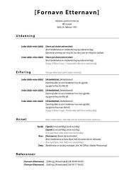 Pa Resume How To Land A Job In Norway Tips And Cv Templates