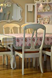 white shabby chic dining room table and chairs images about