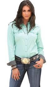 cruel western shirt womens scoop elbow sleeve brown