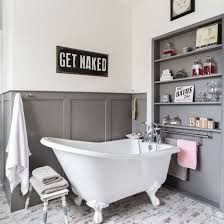 panelled bathroom ideas lewis collection blakeney shelves bath and gray