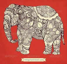 decorative elephant by moleskostudio graphicriver