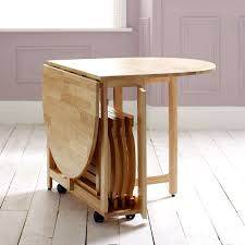 Folding Table With Chair Storage Drop Leaf Dining Table And 4 Folding Chairs Dining Set Home