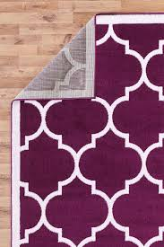 large modern geometric moroccan trellis thin carpet purple