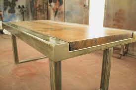 Custom Metal And Wood Furniture Custom Dining Table Beer City Metal Works U0026 Construction Grand