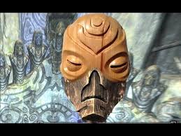 wooden mask from skyrim carved out of wood