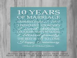10 years anniversary gift 10 year anniversary gift gift for men women his hers 10th ideas