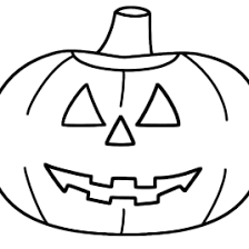 pumpkin face coloring kids drawing coloring pages