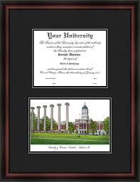 virginia tech diploma frame missouri tigers mizzou diploma frame lithograph