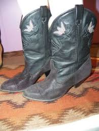 dingo boots s size 11 ariat 15781 leather deertan heritage cowboy boots womens