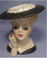 Napco Lady Head Vase Exhibit 46 Jessica Harrison U0027s Tattooed Figurines Happimess Media
