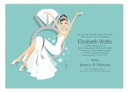 bridal invitation blue swinging ring invitation bridal shower ideas