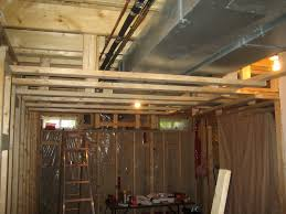 Unfinished Basement Ceiling by Easy Basement Ceiling Ideas