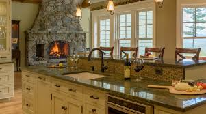 a comfortable kitchen complete with pizza oven new hampshire