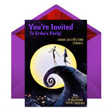 nightmare before christmas wedding invitations the nightmare before christmas party online invitations disney