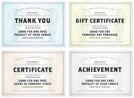 vector vintage gift certificate template set u2014 stock vector