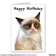 Grumpy Cat Meme Happy Birthday - cat birthday cards inspirational cat meme quote funny humor grumpy