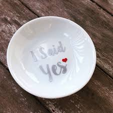 ceramic dish ring holder images Ring dish i said yes custom wedding ring holder jpg