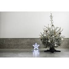 harbour housewares star christmas tree stand black