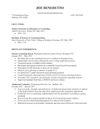 sample counselor resume free resumes tips