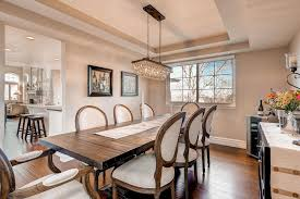 Dining Room With Chandelier Traditional Dining Room With Chandelier Hardwood Floors In Lone