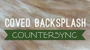 solid surface coved backsplash youtube
