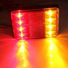 led boat trailer lights led trailer lights tail stop signal all in one boat waterproof rear