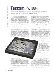 download free pdf for tascam fw 1884 audio firewire other manual