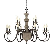 12 Light Chandeliers Shop Quoizel Castile 35 5 In 12 Light Rustic Black Williamsburg