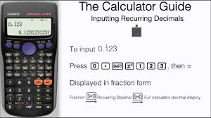 Placing Decimals On A Number Line Worksheet How To Input Recurring Decimals Repeating Casio Calculator Fx