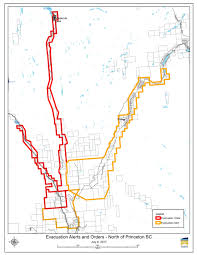 Wildfire Map Kamloops by Breaking Princeton Evacuation Order Expanded Once More