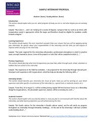 Sample Partnership Proposal Sample Internship Proposal Letter Internship Pedagogy