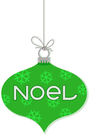 noel ornament hanging green ornaments