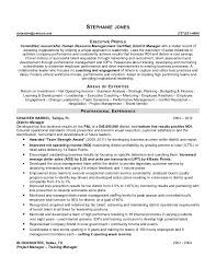 It Executive Resume Examples by Areas Of Expertise Resume For Stephanie Jones