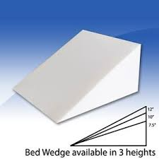 bed wedge pillow foam bed wedge pillow cushion with cover 3 size opitions wedge