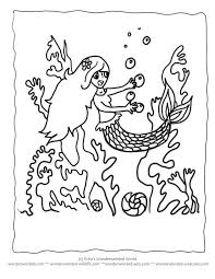 mermaid coloring book pages kids coloring