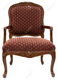 Traditional Accent Chair Traditional Style Accent Chair In Burgundy Fabric Stock Photo