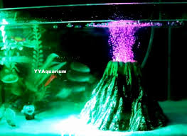 artficial volcano resin rock decoration fish tank background