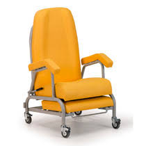 Hospital Armchairs Reclining Patient Chair On Casters With Legrest Pneumatic