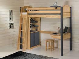 lit bureau combiné lit mezzanine avec bureau décopin secret de chambre