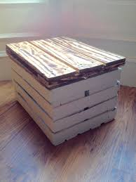 1001 Pallet by Storage Table Made From A Veg Crate U0026 One Pallet U2022 1001 Pallets