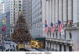 American Flag Christmas Lights An American Flag And A Christmas Tree In Kalispell Montana On