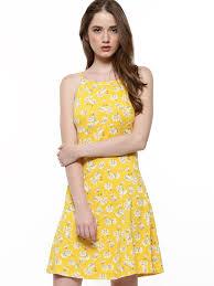 buy new look ditsy print skater dress for women women u0027s yellow