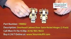Overhead Cabinet Door Hinges Satin Nickel Overhead Cabinet Door Hinges For Motorhome 190002