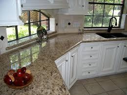 White Cabinets Granite Countertops by New Venetian Gold Granite Kitchen Pictures Neutral Travertine